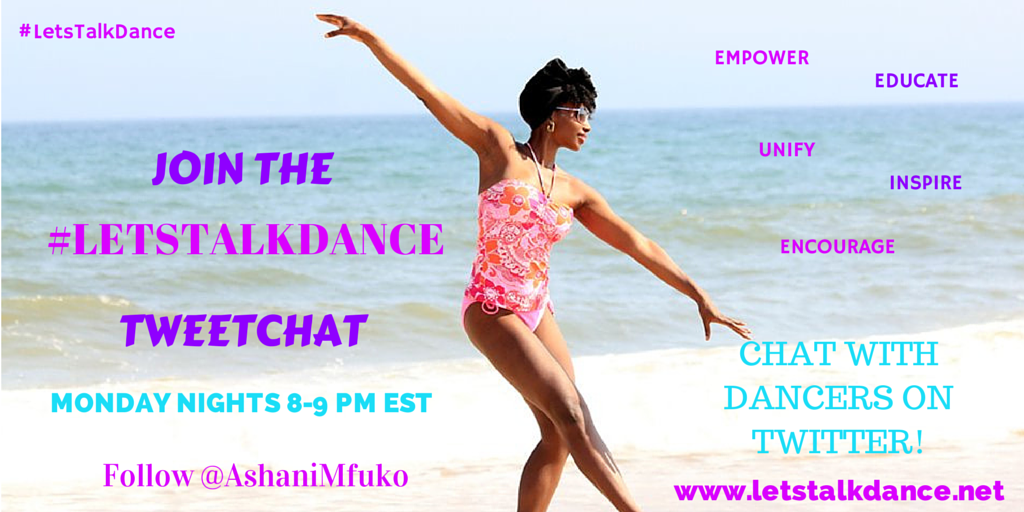 Join the #letstalkdance tweetchat, and chat about hot topics for professional dancers, dance teachers, and dance studio owners from around the world!