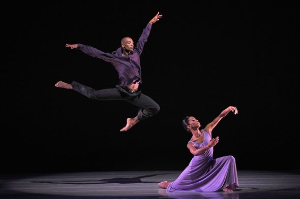 Ailey II's Gentry Isaiah George and Tyler Brown in Robert Battle's We.  Photo by Eduardo Patino.