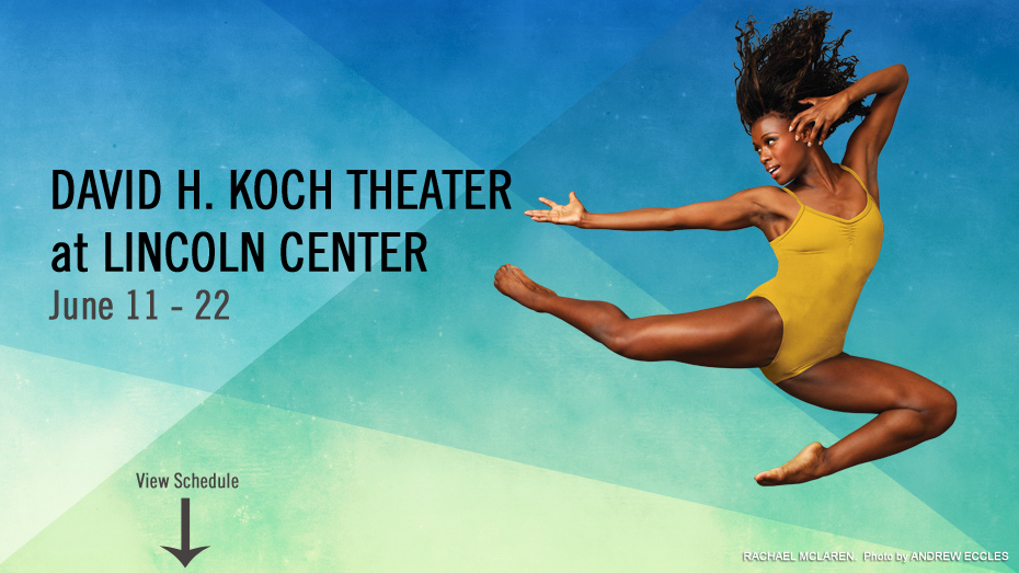 AILEY OPENS TWO-WEEK SPRING SEASON AT LINCOLN CENTER ON WEDNESDAY, JUNE 11th WITH FREE REVELATIONS CELEBRATION WORKSHOP ON THE PLAZA AND ONE-NIGHT-ONLY AILEY SPIRIT GALA