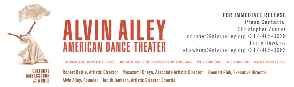 For The First Time Ever, The Rising Stars of Ailey II, The Ailey School and AileyCamp Join Alvin Ailey American Dance Theater on David H. Koch Theater Stage Followed by Dance Party with Musical Stylings of Special Guest DJ M.O.S.